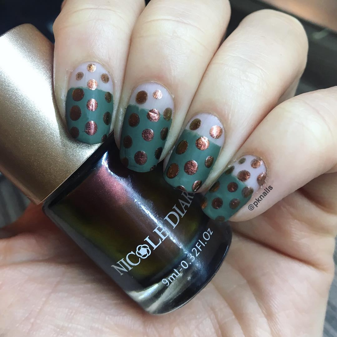 green nail art ideas and designs for 2019 13 - 17 Green Nail Art Ideas and Designs for 2019