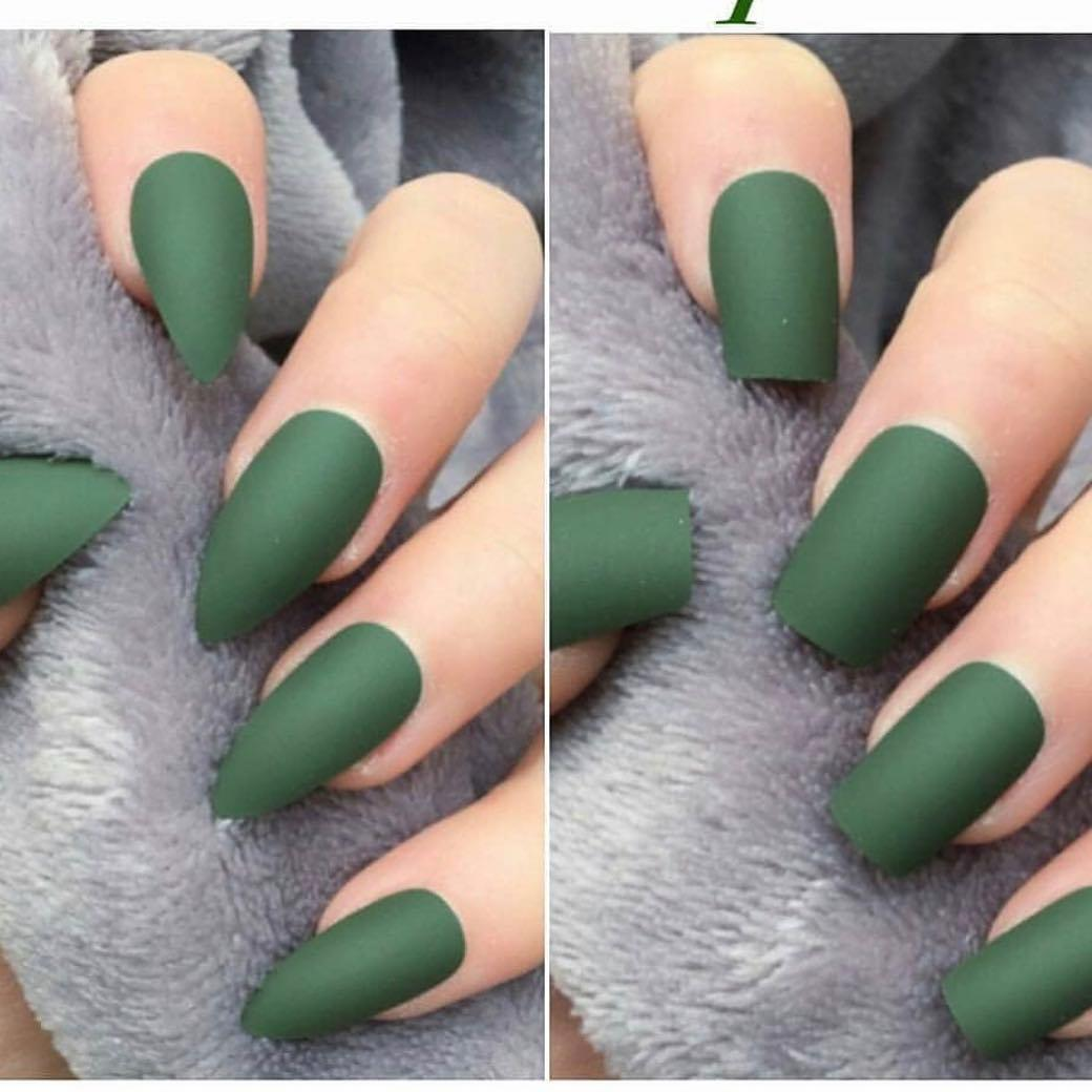 green nail art ideas and designs for 2019 16 - 17 Green Nail Art Ideas and Designs for 2019