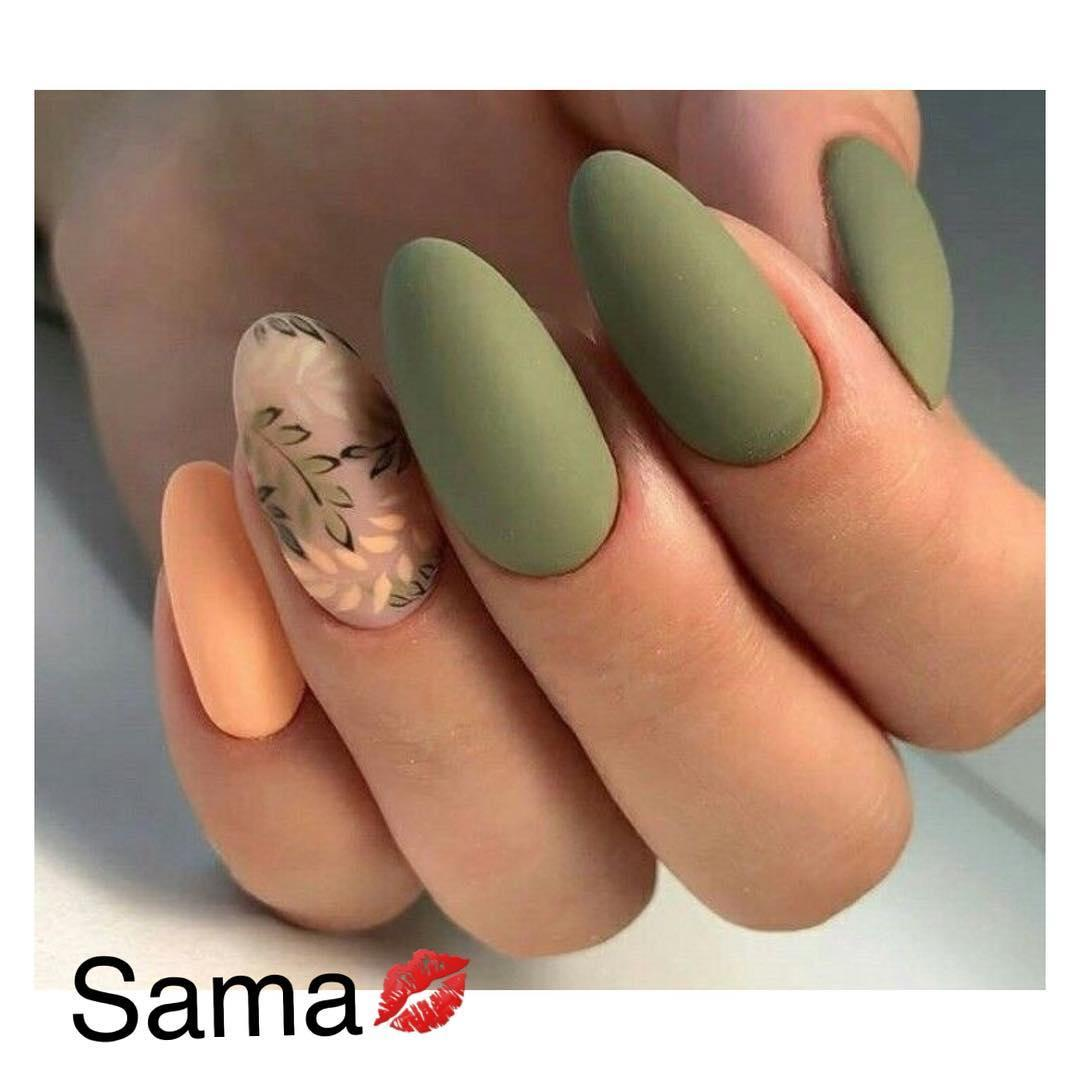 green nail art ideas and designs for 2019 3 - 17 Green Nail Art Ideas and Designs for 2019