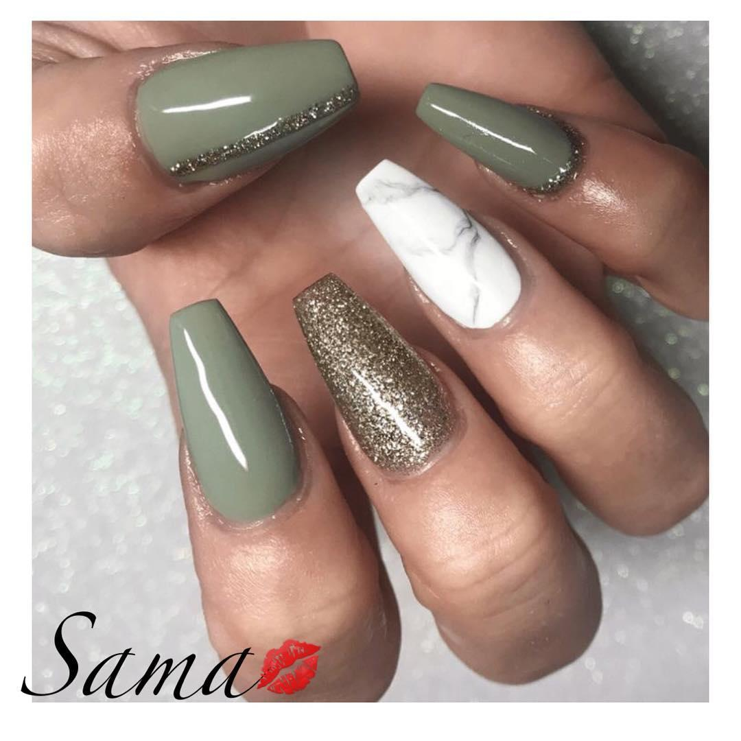 green nail art ideas and designs for 2019 4 - 17 Green Nail Art Ideas and Designs for 2019