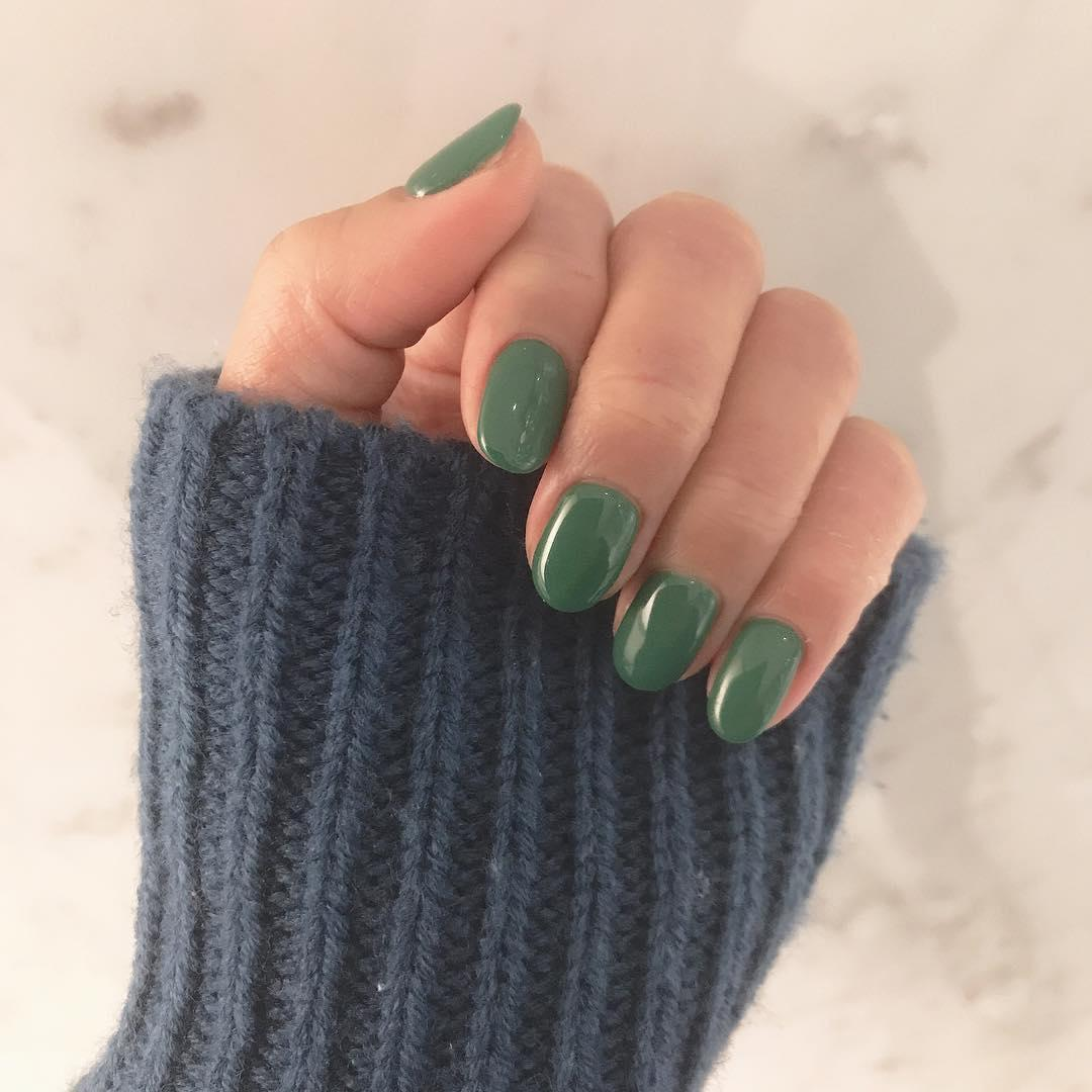green nail art ideas and designs for 2019 5 - 17 Green Nail Art Ideas and Designs for 2019