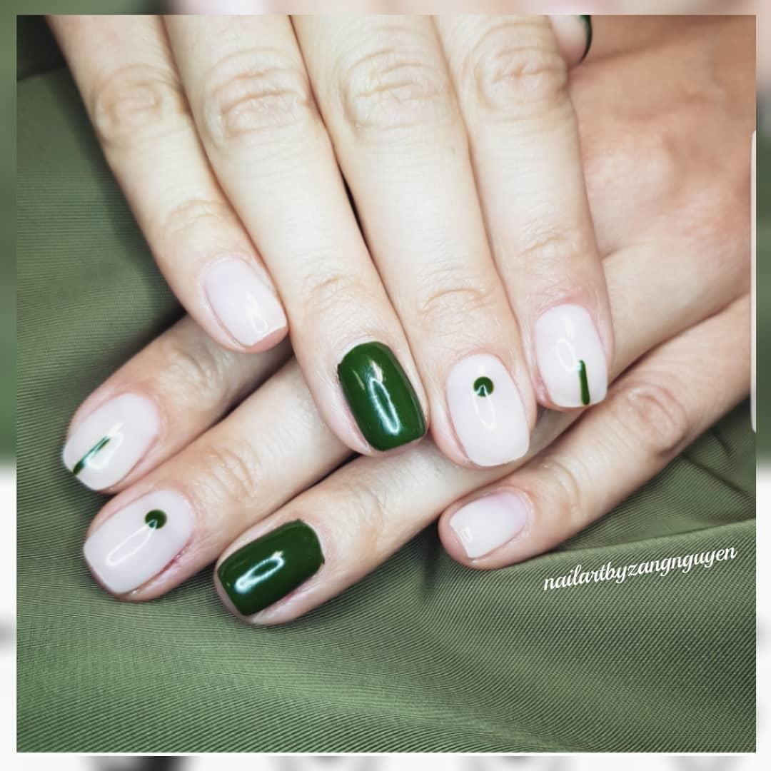 green nail art ideas and designs for 2019 6 - 17 Green Nail Art Ideas and Designs for 2019
