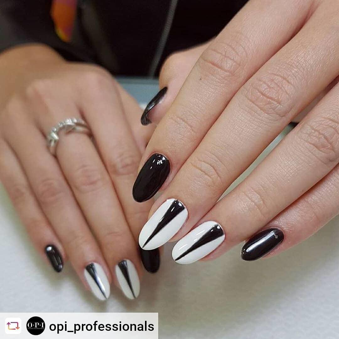 incredible black and white nail designs 11 - 16 Incredible Black and White Nail Designs