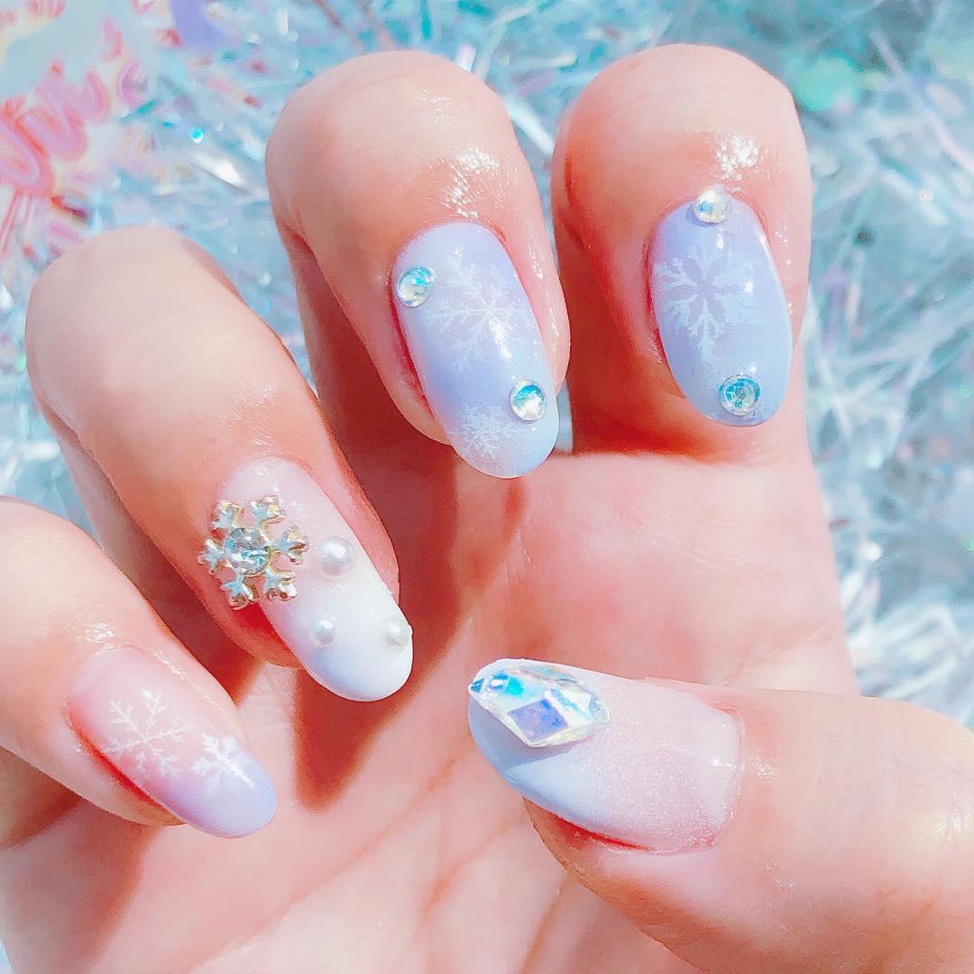 inspiring winter nail designs 2019 24 - Inspiring Winter Nail Designs 2019