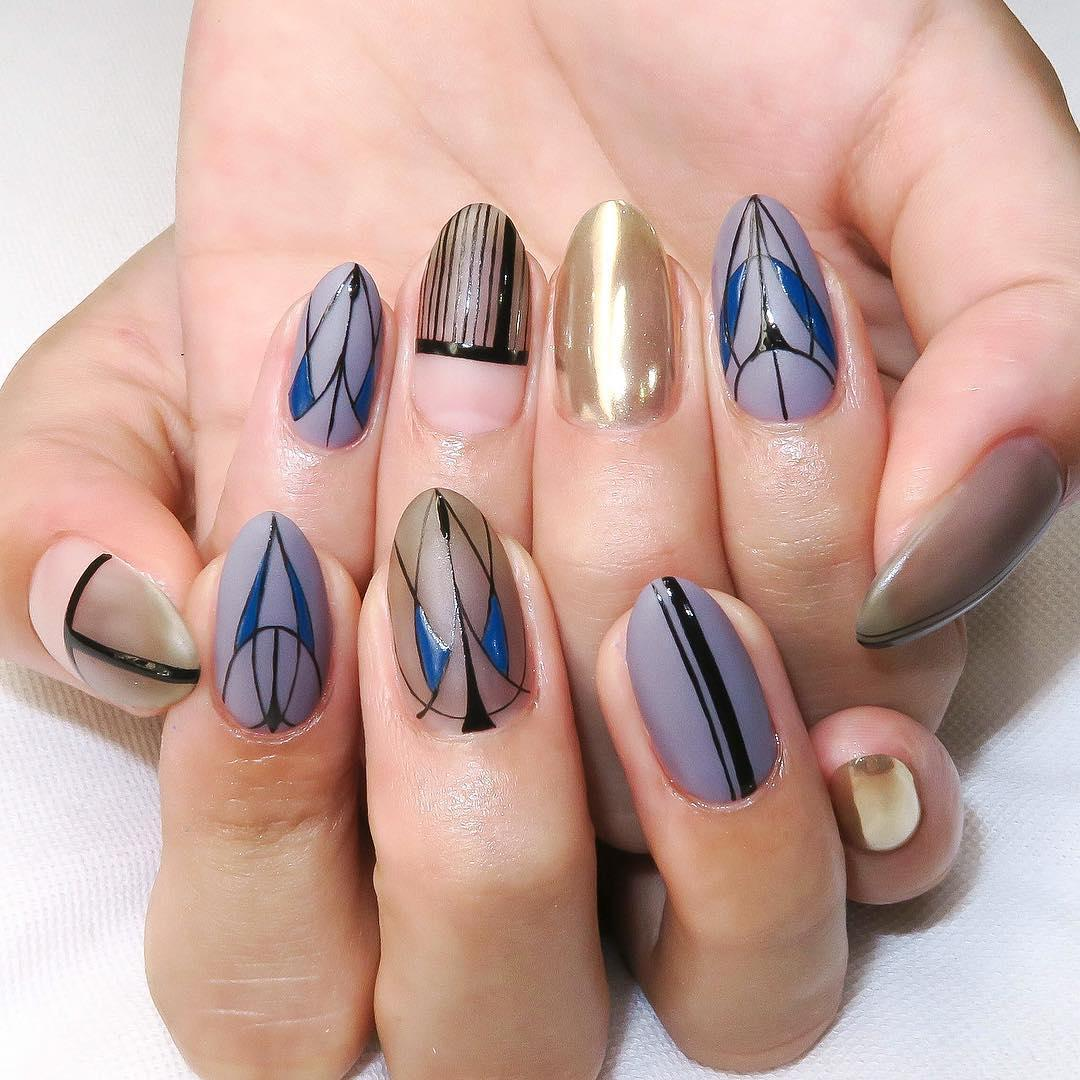 popular unique nail designs 2019 13 - Popular Unique Nail Designs 2019