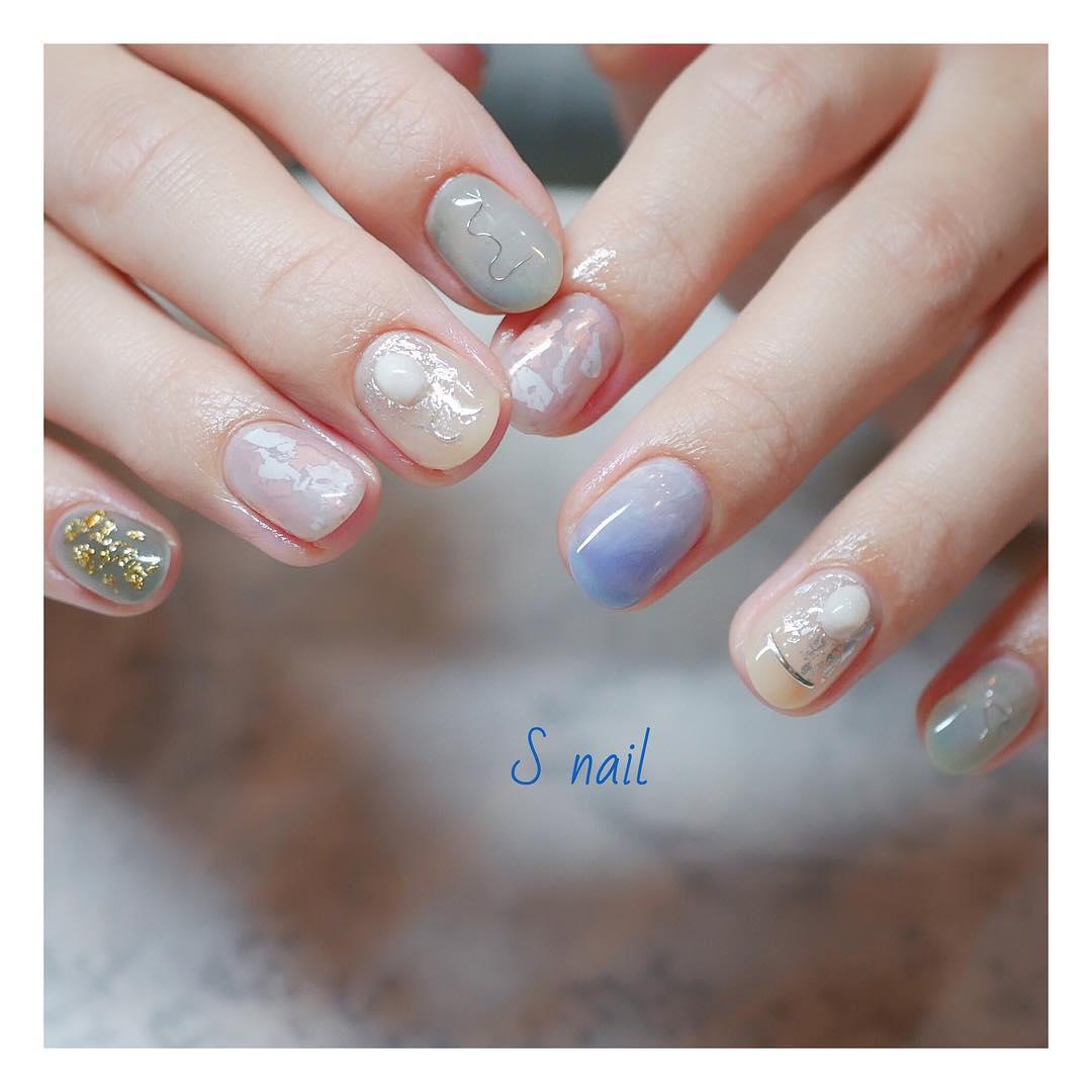 pretty spring nail art designs 9 - Pretty Spring Nail Art Designs 2019