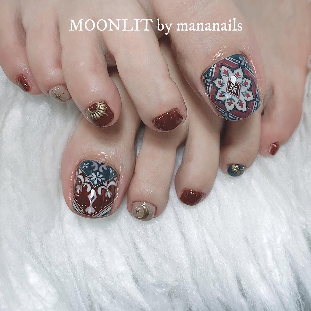 pretty toe nail design ideas 2019 14 - 15 Pretty Toe Nail Design Ideas 2019
