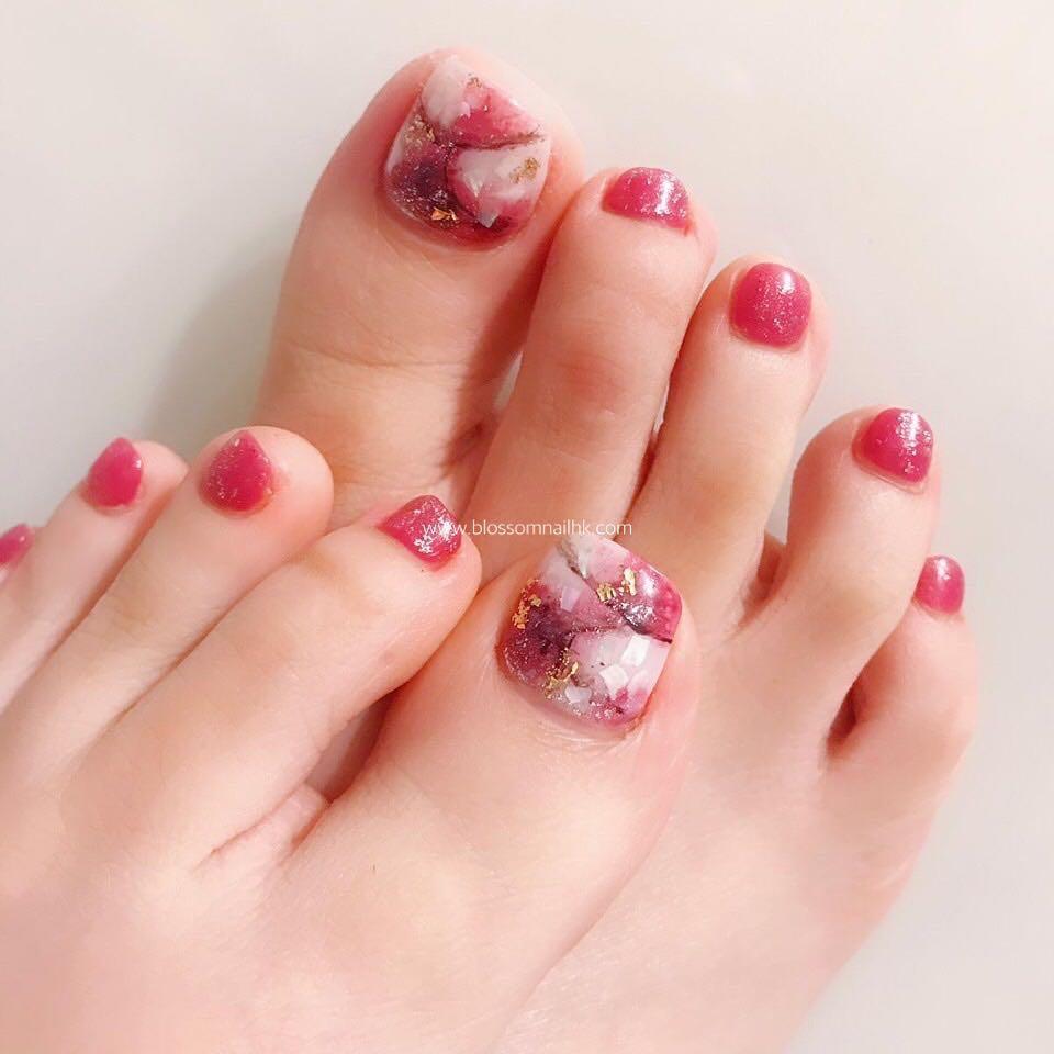 pretty toe nail design ideas 2019 3 - 15 Pretty Toe Nail Design Ideas 2019