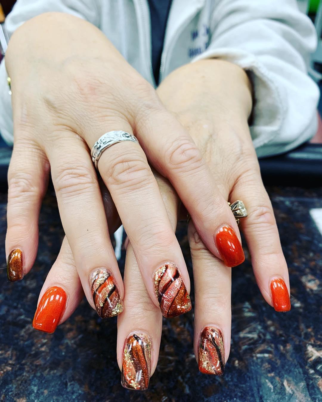 simple flower nail design ideas 2019 12 - 24 Simple Flower Nail Design Ideas 2019