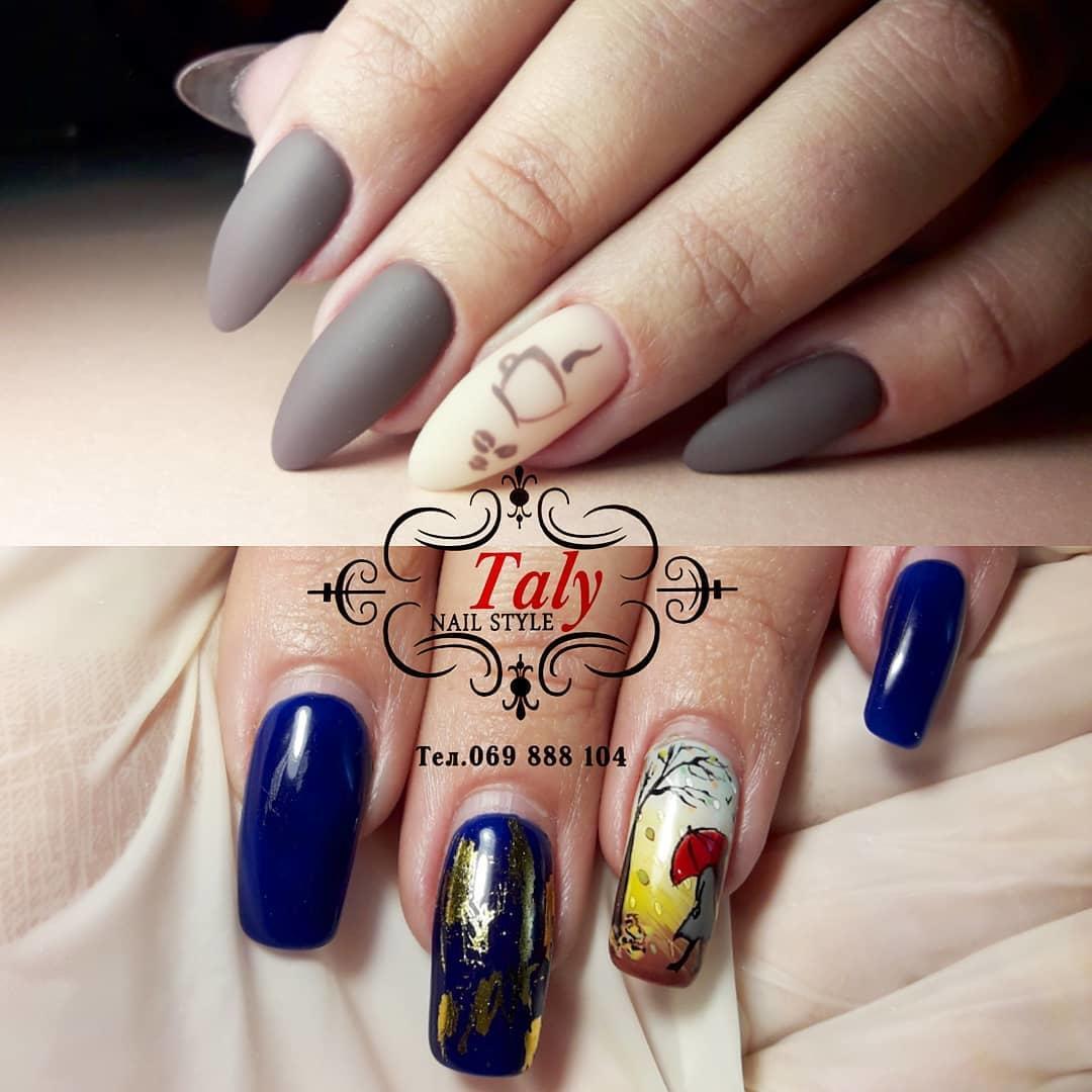 simple flower nail design ideas 2019 19 - 24 Simple Flower Nail Design Ideas 2019