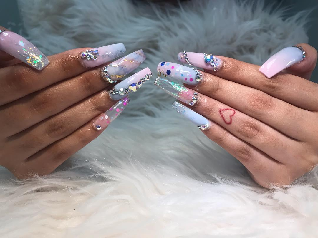 smashing glitter nail polish designs and ideas 2019 18 - Smashing Glitter Nail Polish Designs and Ideas 2019