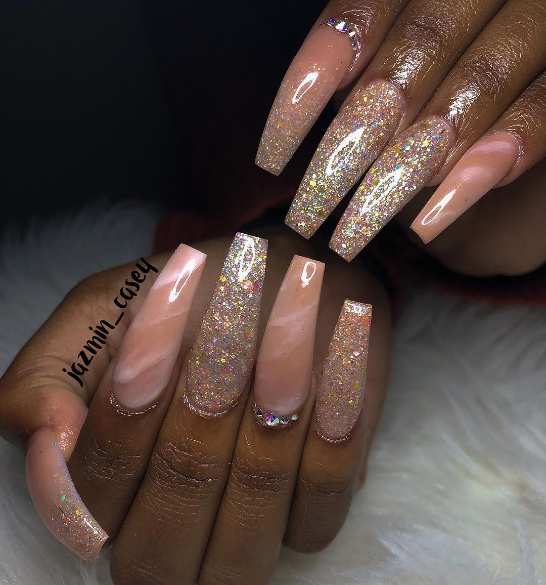 smashing glitter nail polish designs and ideas 2019 22 - Smashing Glitter Nail Polish Designs and Ideas 2019