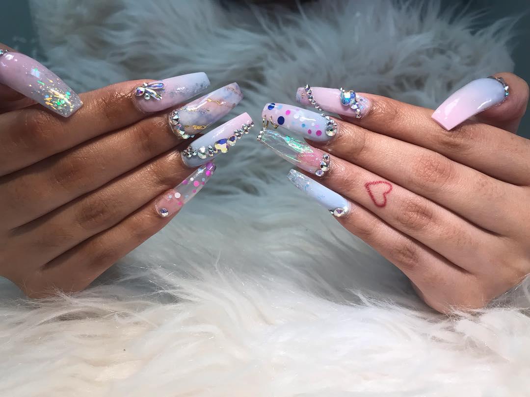 smashing glitter nail polish designs and ideas 2019 6 - Smashing Glitter Nail Polish Designs and Ideas 2019