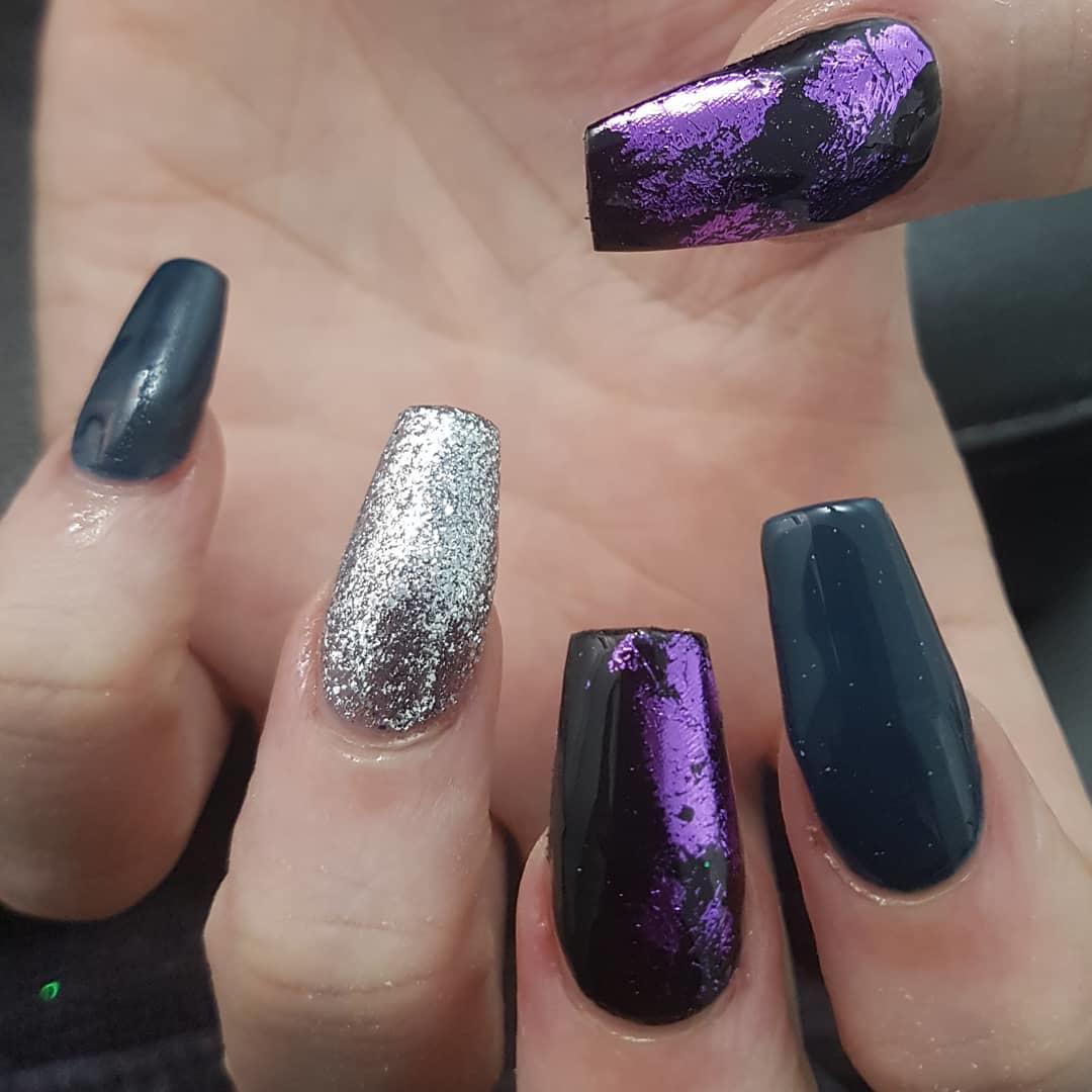 smashing glitter nail polish designs and ideas 2019 - Smashing Glitter Nail Polish Designs and Ideas 2019