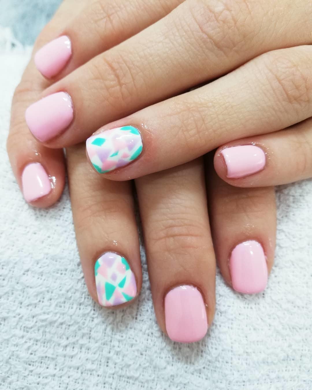 spring nail 17 - 23 Cute Spring Nail Designs 2019