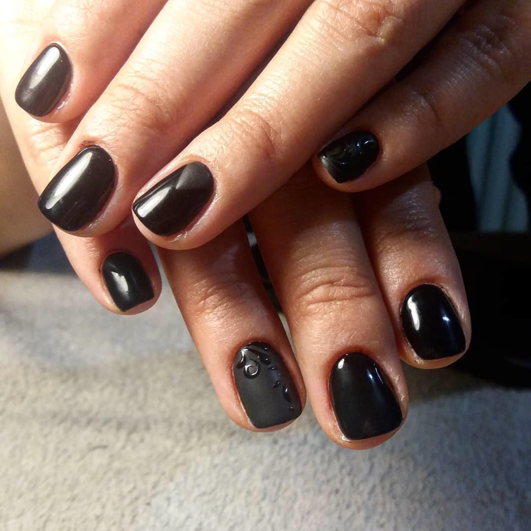trendy black nail art designs and ideas 2019 10 - Trendy Black Nail Art Designs and Ideas 2019
