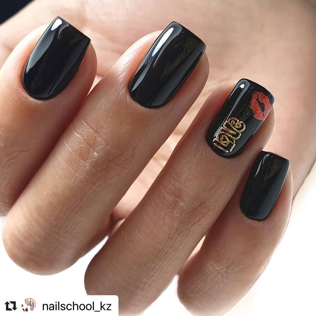 trendy black nail art designs and ideas 2019 13 - Trendy Black Nail Art Designs and Ideas 2019