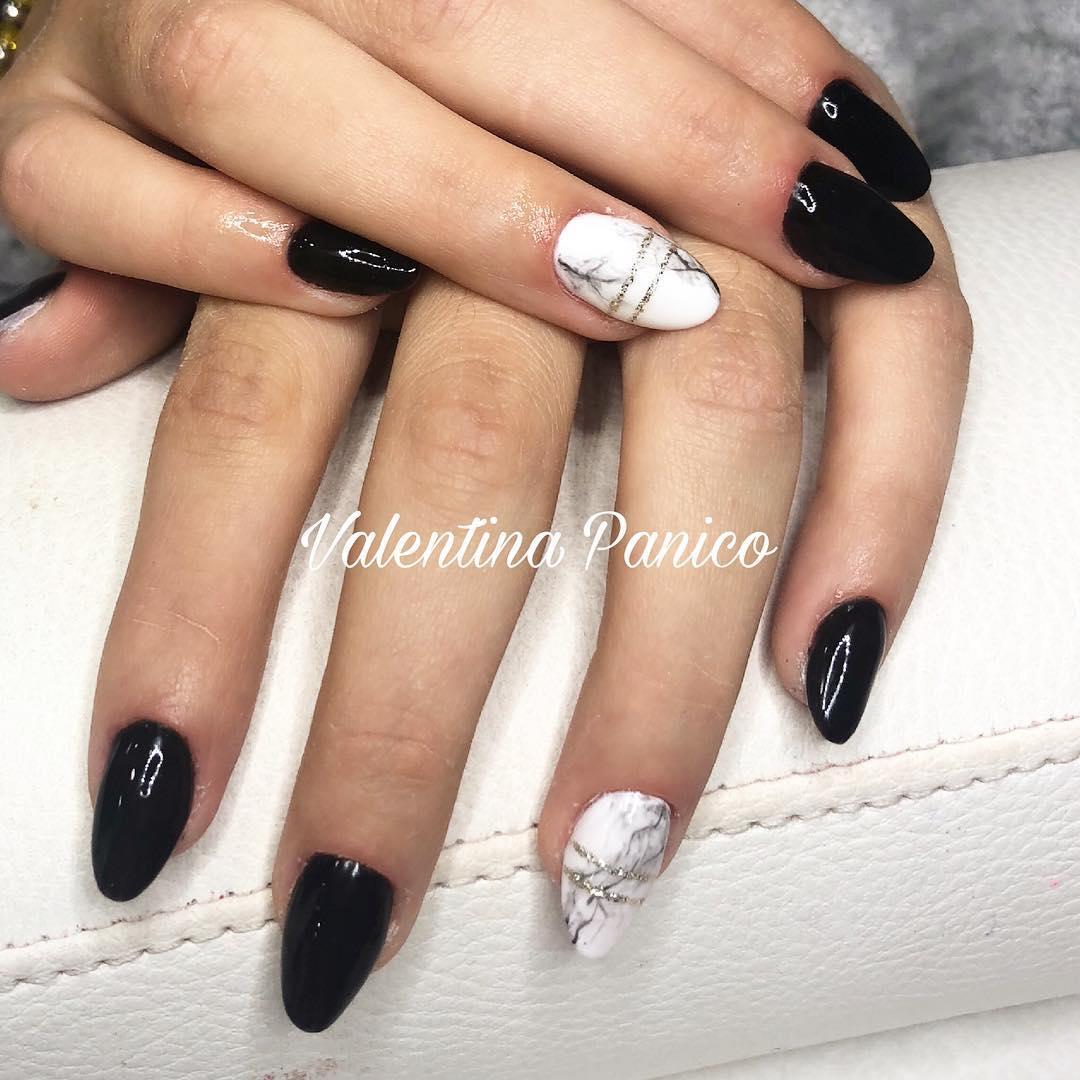 trendy black nail art designs and ideas 2019 16 - Trendy Black Nail Art Designs and Ideas 2019