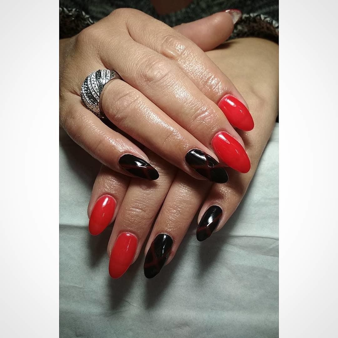 trendy black nail art designs and ideas 2019 19 - Trendy Black Nail Art Designs and Ideas 2019