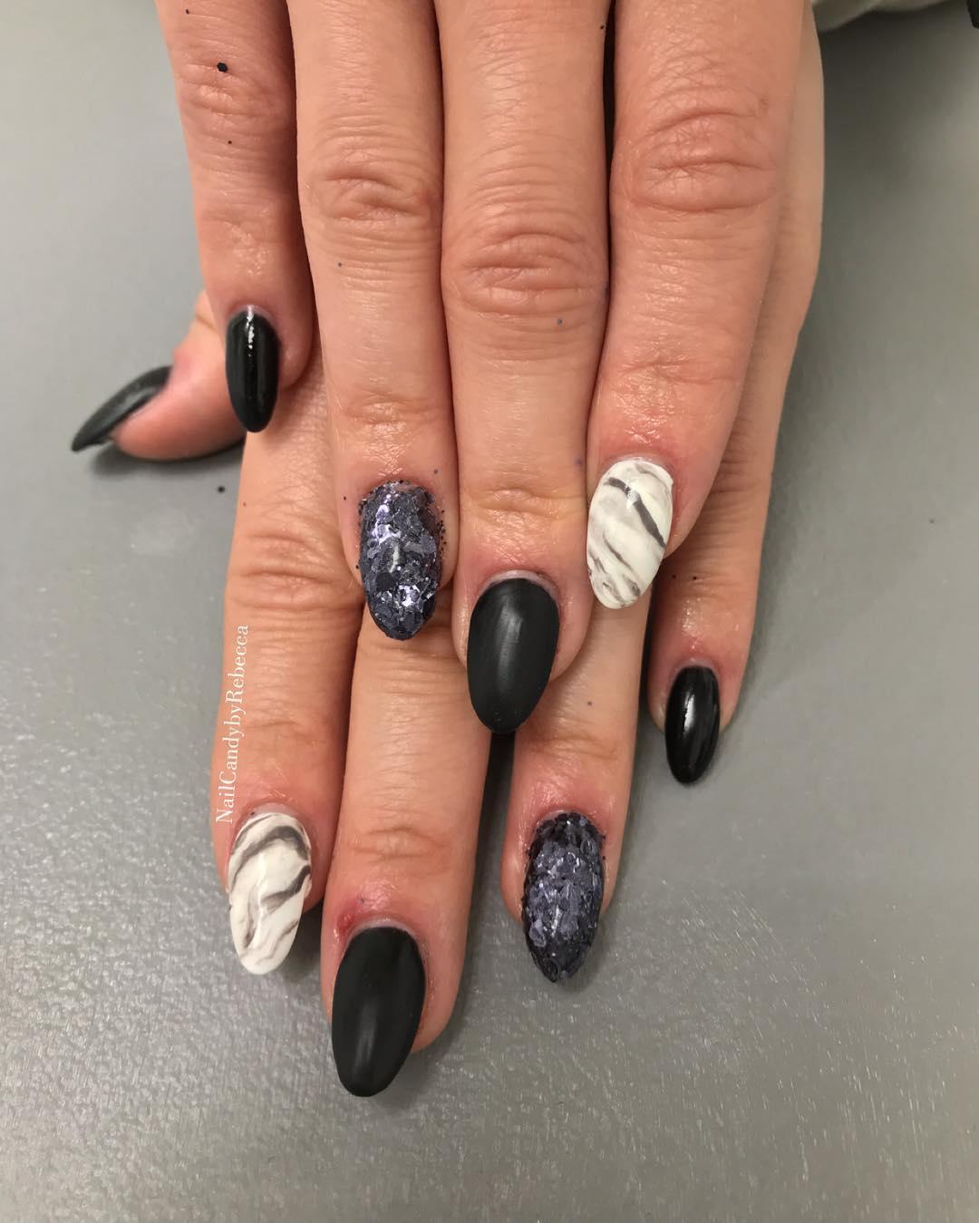 trendy black nail art designs and ideas 2019 2 - Trendy Black Nail Art Designs and Ideas 2019