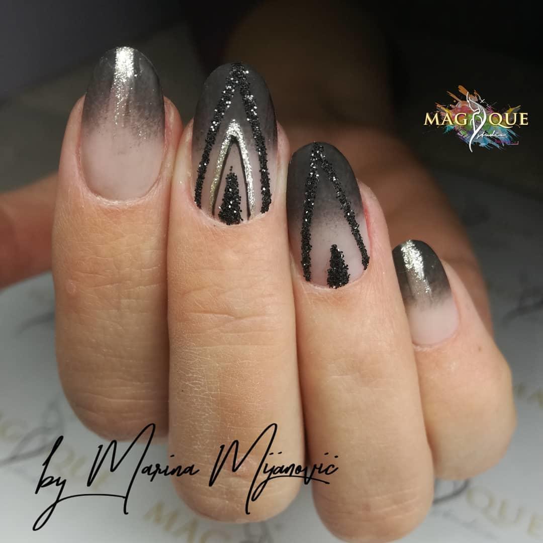trendy black nail art designs and ideas 2019 20 - Trendy Black Nail Art Designs and Ideas 2019