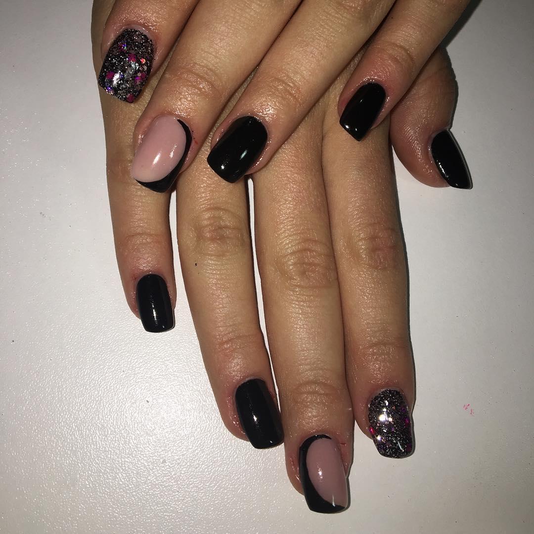 trendy black nail art designs and ideas 2019 21 - Trendy Black Nail Art Designs and Ideas 2019