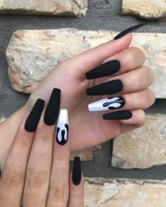 trendy black nail art designs and ideas 2019 22 241x300 - Trendy Black Nail Art Designs and Ideas 2019