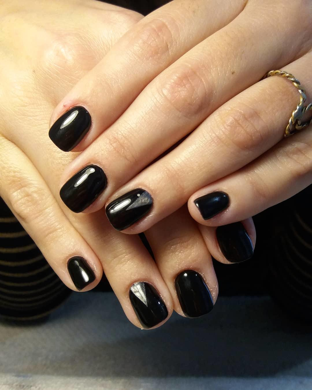 trendy black nail art designs and ideas 2019 3 - Trendy Black Nail Art Designs and Ideas 2019