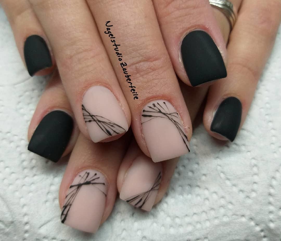trendy black nail art designs and ideas 2019 4 - Trendy Black Nail Art Designs and Ideas 2019