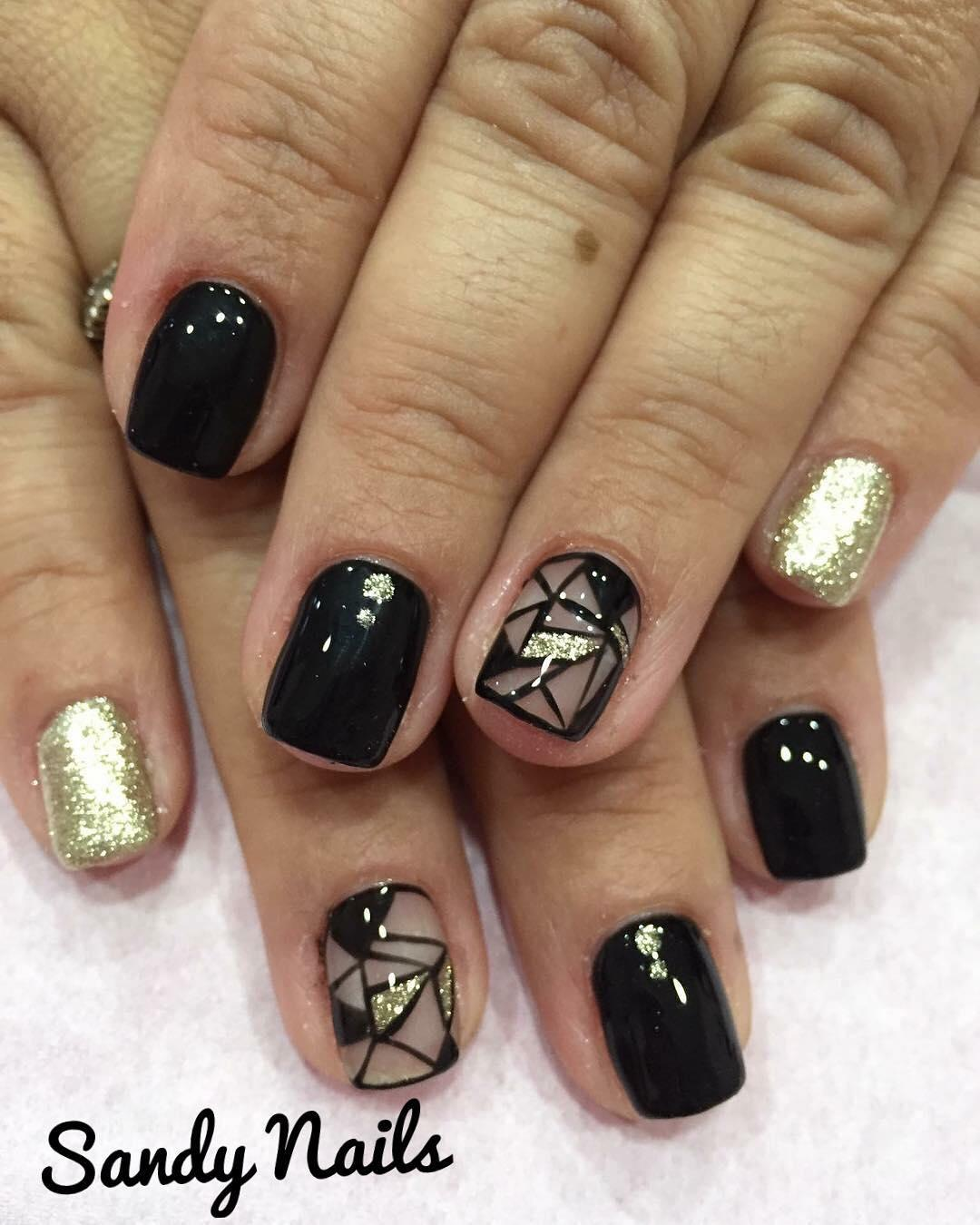 trendy black nail art designs and ideas 2019 5 - Trendy Black Nail Art Designs and Ideas 2019