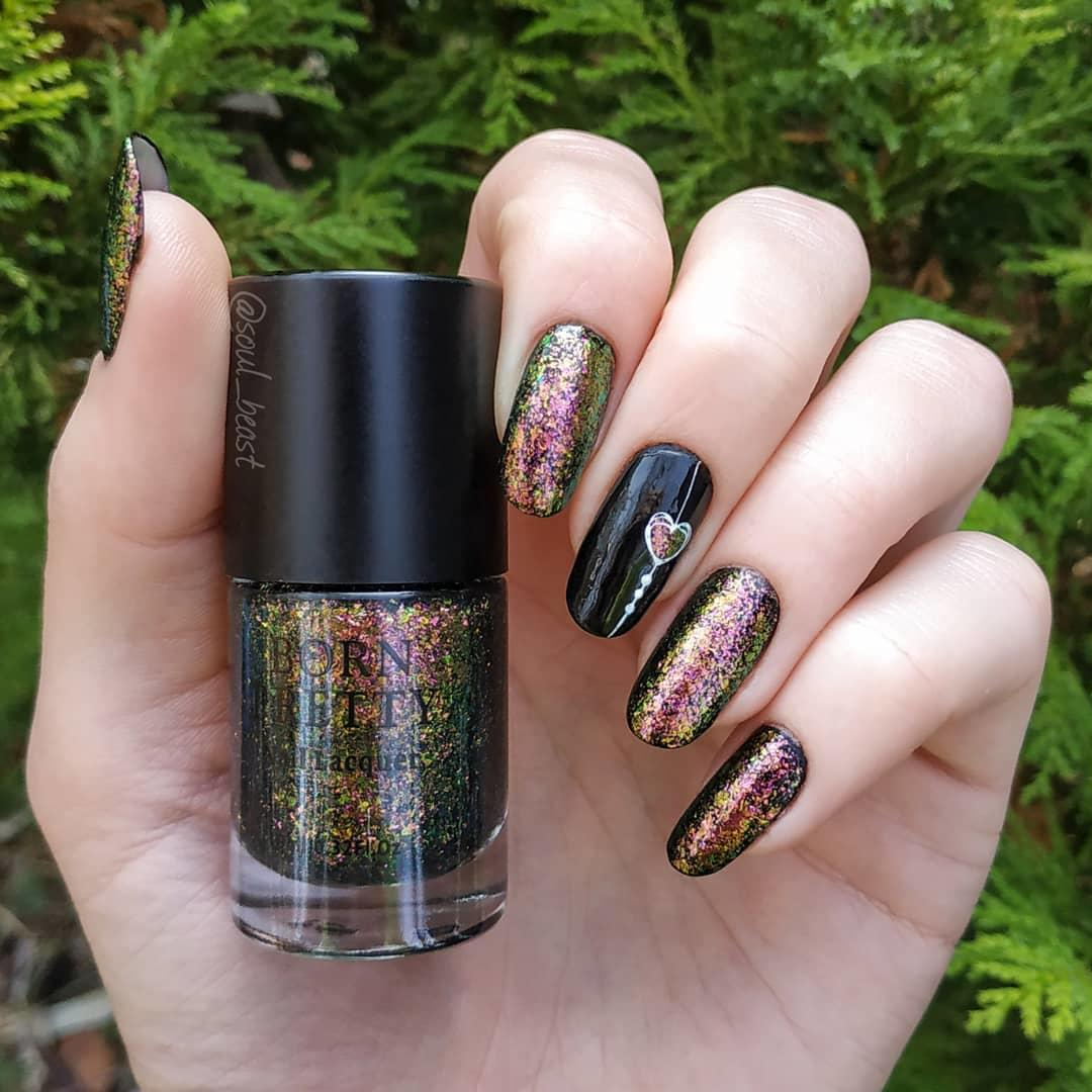 trendy black nail art designs and ideas 2019 7 - Trendy Black Nail Art Designs and Ideas 2019