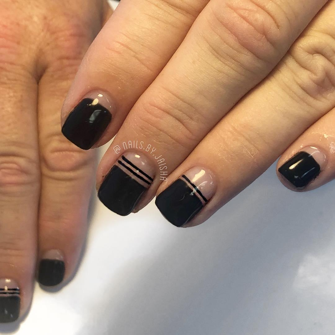 trendy black nail art designs and ideas 2019 8 - Trendy Black Nail Art Designs and Ideas 2019