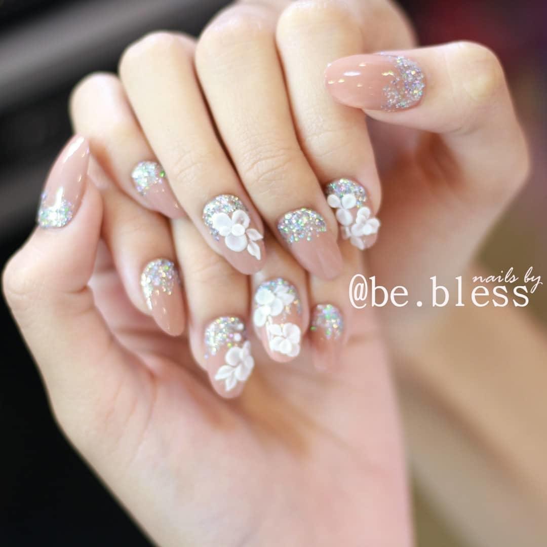 wedding nail designs 10 - 22 Stunning Wedding Nail Designs 2019