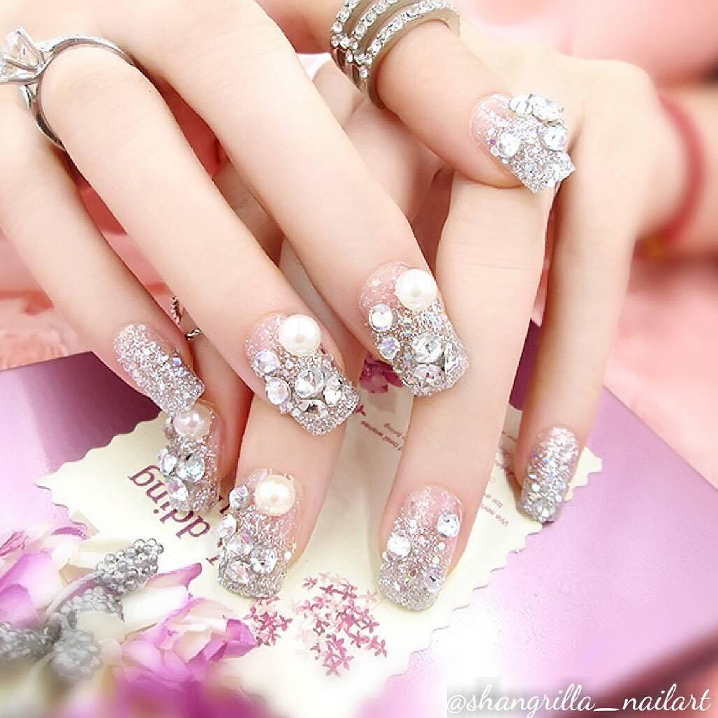 wedding nail designs 12 - 22 Stunning Wedding Nail Designs 2019