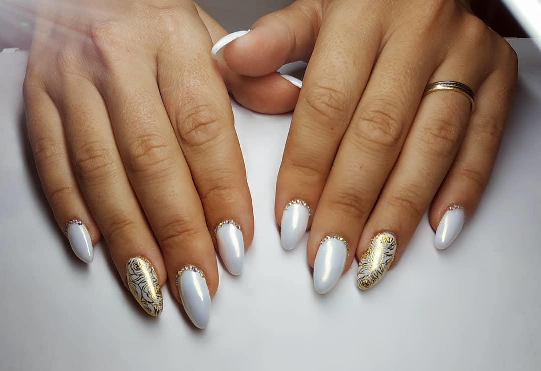 wedding nail designs - 22 Stunning Wedding Nail Designs 2019
